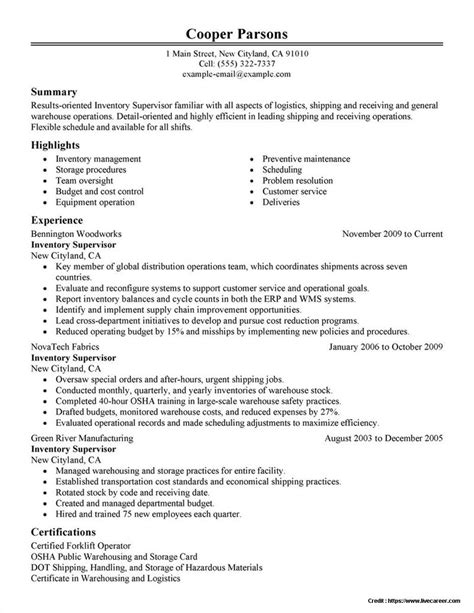 Warehouse Manager Resume Templates by Sle Of Warehouse Manager Resume Resume Resume Exles Vdgodmqaze