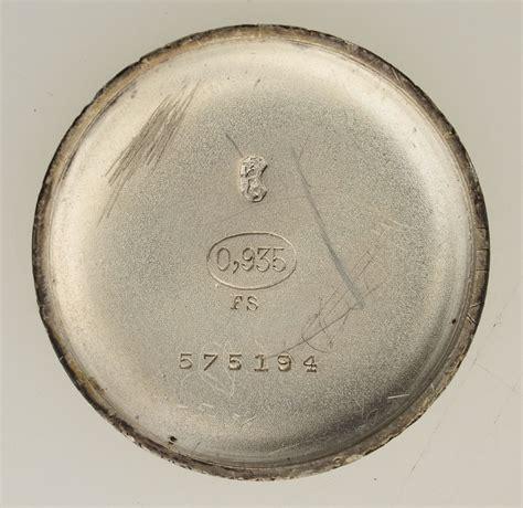 len jugendstil antique wristwatch nouveau switzerland 935er silver