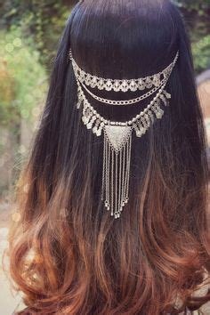 romani gypsie hairstyles draped chain halo headwrap halo and chains