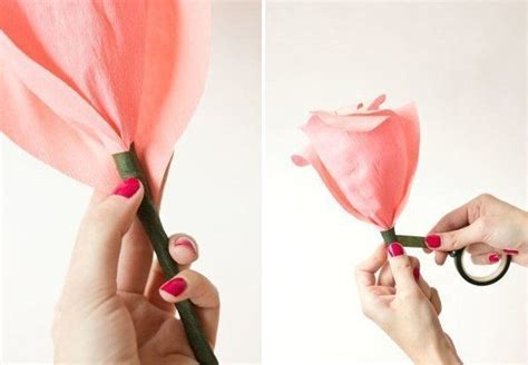 como hacer flores con papel crepe paso a paso tutorial como hacer rosas gigantes con papel crep 233 patrones gratis