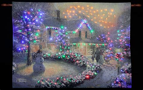 thomas kinkade quot heart of christmas quot illuminated hanging