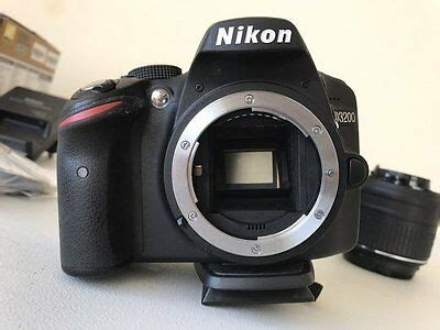 nikon d d3200 24 2mp digital slr black kit w af s dx vr 18 55mm lens eur 349 99
