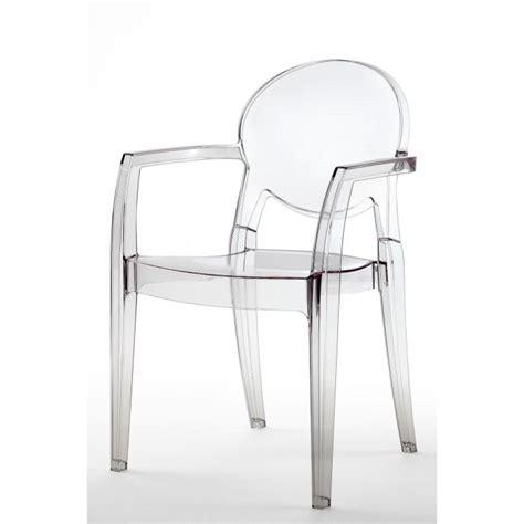 chaise design transparente chaise transparente design avec accoudoirs ig achat