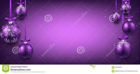 abstract banner  purple christmas balls stock vector image
