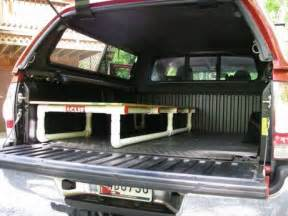truck bed cot truck bed sleeping platform made from pvc pipe tacoma