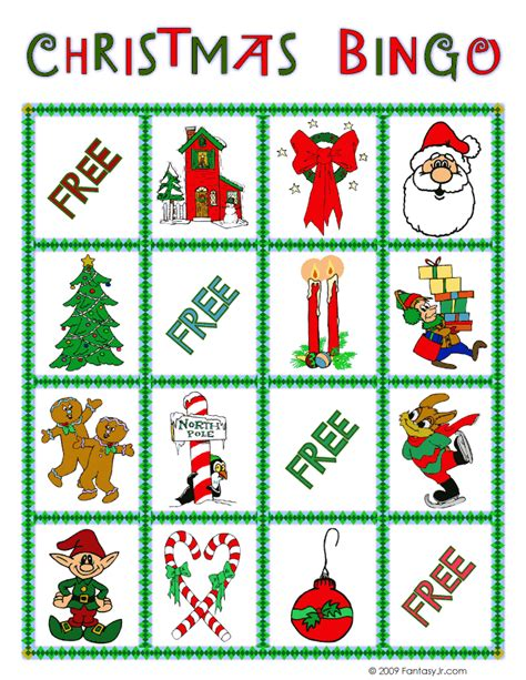printable holiday bingo games christmas bingo card 10 woo jr kids activities