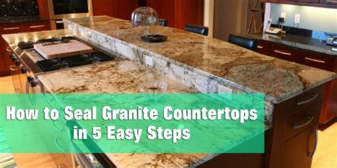What To Use To Seal Granite Countertops by How To Seal Granite Countertops