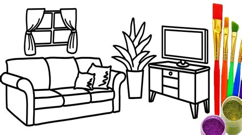 Drawing Living Room - living room line drawing at getdrawings free for
