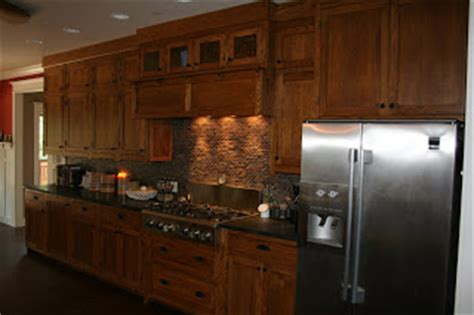Mission Oak Kitchen Cabinets Ragtime Woodwork Kitchen Cabinets Mission Style White Oak With Walnut Stain