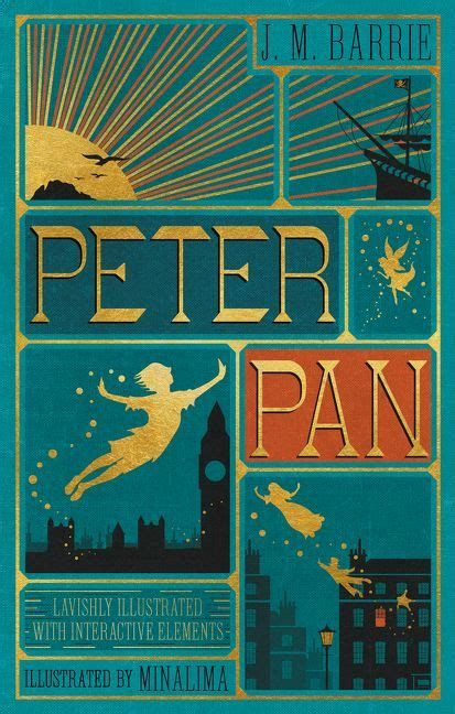libro peter pan a classic peter pan illustrated with interactive elements j m barrie hardcover