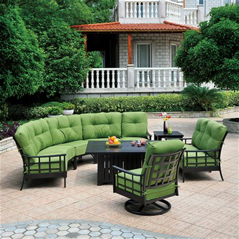 Family Leisure Patio Furniture by Stratford Estate Seating Crescent Sectional