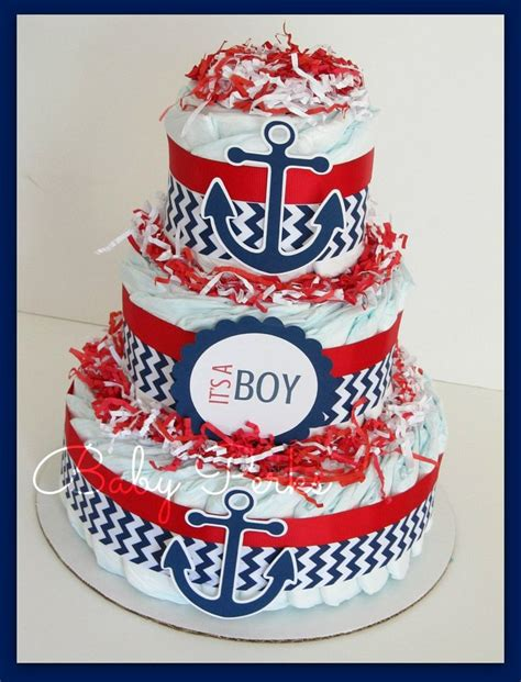 Mini 3layer best 25 nautical baby shower decorations ideas on