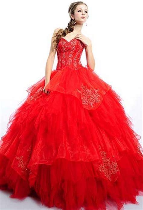 trajes para 15 anos este es un vestido color vestidos de xv a 241 os color rojo