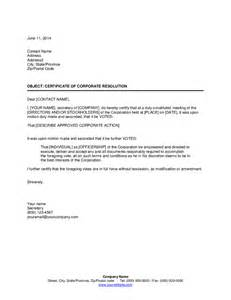 corporate resolution template certificate of corporate resolution hashdoc
