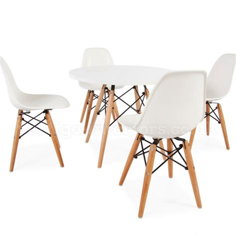 Eames Table And Chairs by Children S Eames Dsw Style Table Chair Set White Nubie