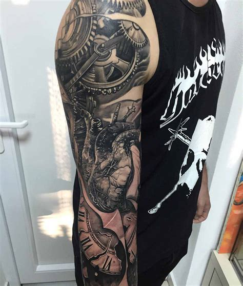 mechanical sleeve tattoo mechanical sleeve best ideas gallery