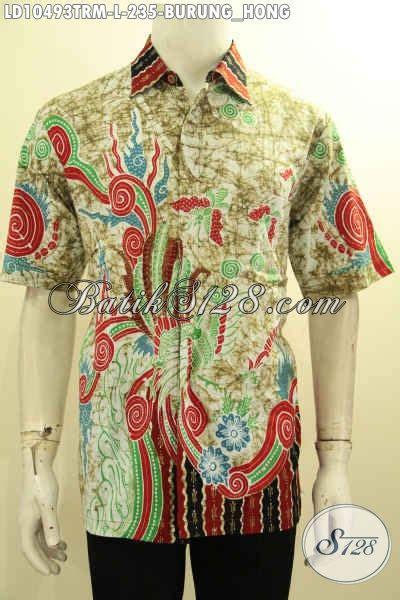 Baju Pakaian Pria Busana Kemeja Pendek Motif Batik Murah 3 busana batik lengan pendek motif burung hong kemeja batik