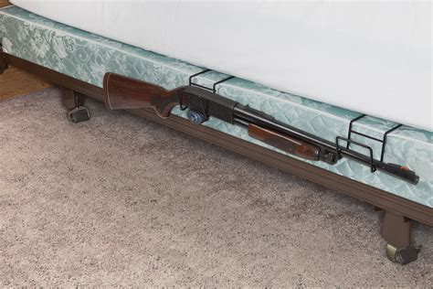 how to bed a rifle bed buddy dual shotgun baseball bat holder display sku