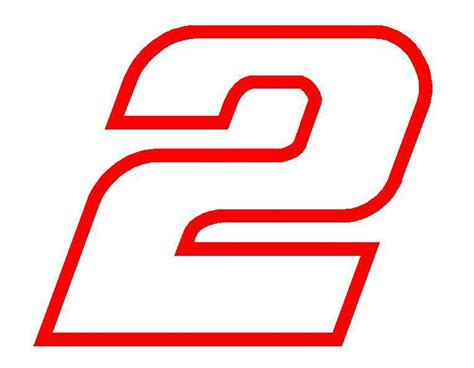 Window Decals Numbers by 6 Quot Brad Keselowski Number 2 Window Decals Vinyl Stickers 2