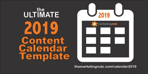 The Ultimate 2019 Content Calendar Template To Get A Grip On Your Social Media Content Fast Social Media Marketing Calendar Template