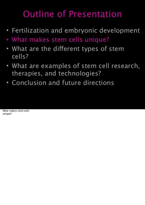 Embryonic Stem Cell Research Outline by Biotechnology Cirm Stem Cell Lecture