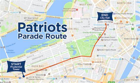 boston duck boats route patriots super bowl 2017 parade route details map of