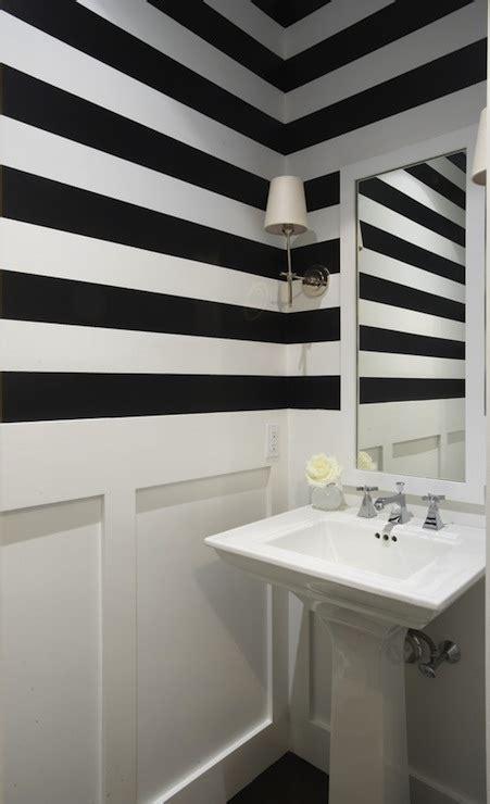 striped bathroom black and white striped walls contemporary bathroom