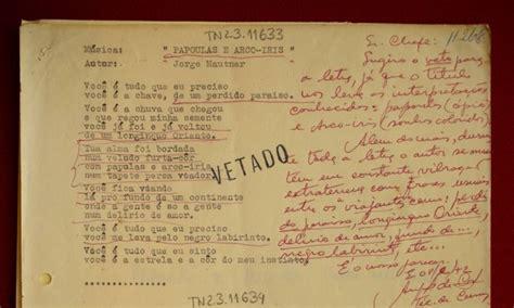 not 237 cias acervo censurado na ditadura revela letras in 233 ditas de cantores brasileiros central