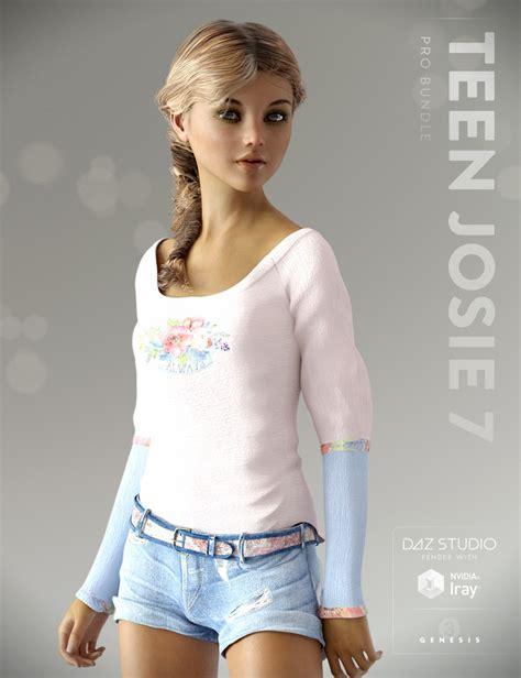 pre non girls teen josie 7 pro bundle 3d models and 3d software by daz 3d