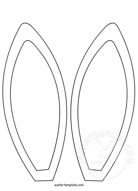 bunny ears template bunny ears coloring sheets printable coloring pages