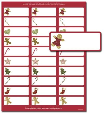 Free Christmas Label Templates Avery Labels Invitation Template Labels Template Free