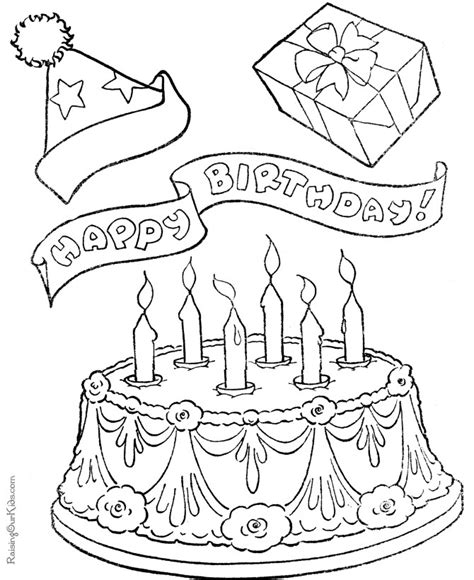 christmas cake coloring pages free printable birthday cake coloring pages for kids