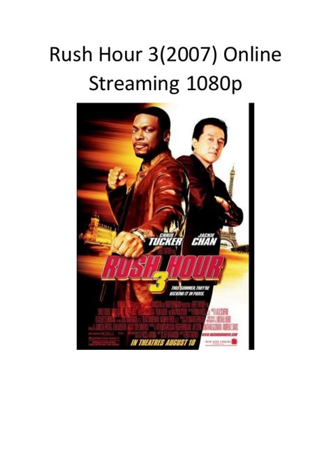 good action comedy film rush hour 3 2007 online streaming 1080p good action