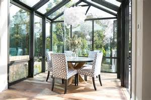 Sunroom Dining Room With Vaulted Glass Ceiling Sunroom Dining Room