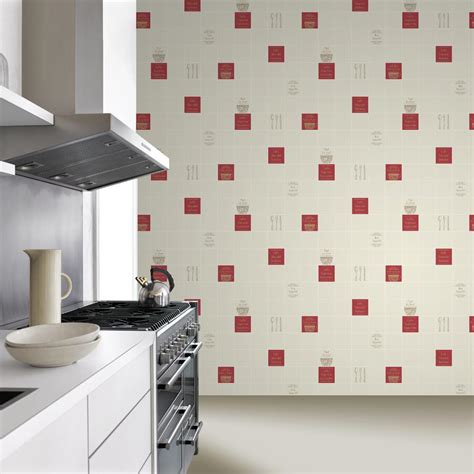 blue kitchen wallpaper uk new rasch tile pattern caf 201 coffee restaurant kitchen