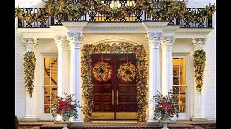 how to decorate indoor column for xmas fascinating front porch decorating ideas