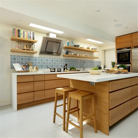 new home designs latest homes modern wooden kitchen modern oak kitchen housetohome co uk