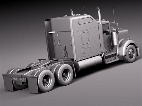 kenworth 2014 models kenworth w900 sleeper cab 2014 3d model max obj 3ds fbx
