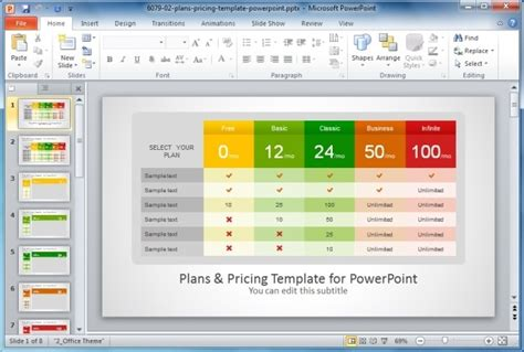 powerpoint comparison template plans and pricing template for powerpoint jpg slidemodel