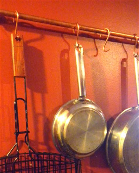 Cheap Pot Rack a copper pot rack cheap easy planitdiy