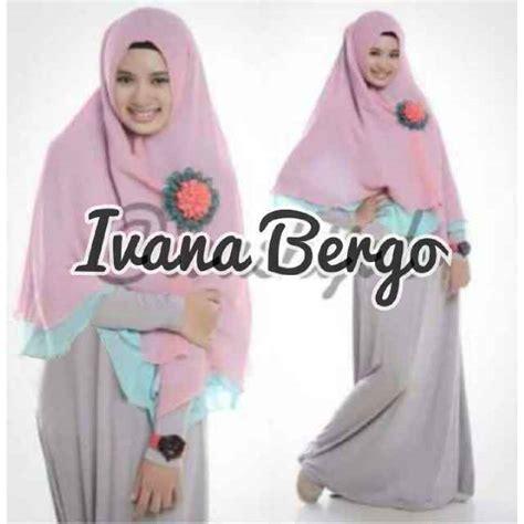 Gamis Syari Linen Pink Plus Bergo Fit L Baju Gamis Set Bergo Ivana Y 688 Busana Syari Islami Terbaru