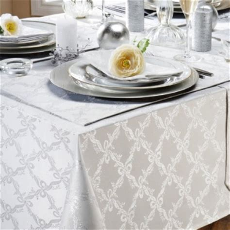 trellis white silver christmas tablecloth