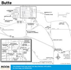Butte Montana Map by Printable Maps Of Montana Incl Glacier National Park
