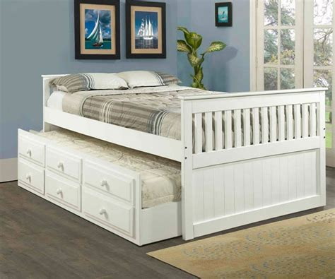 Size Captain Bed by Size Captain Bed With Trundle Loft Bed Design