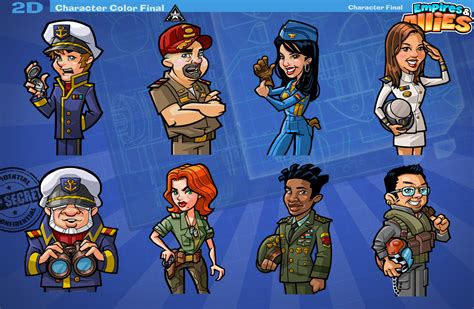 This Characters - empires and allies 2d character sketches and in