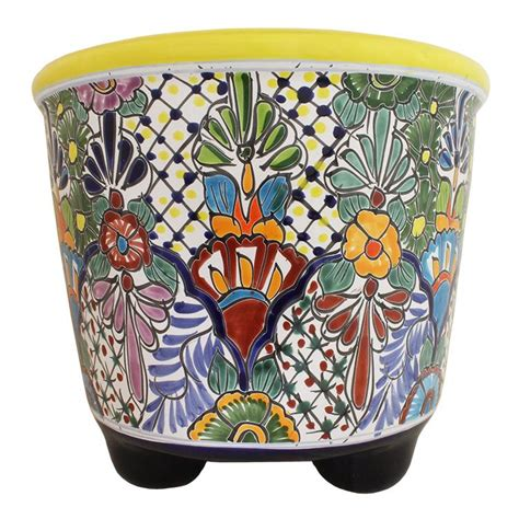 Mexican Planters Large by Talavera Planters Collection Talavera Planter Tp005