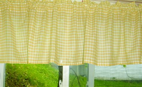 yellow gingham kitchen curtains yellow gingham kitchen caf 233 curtain unlined or with white