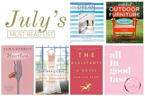 the must guide a listed must read list for july theglitterguide bloglovin