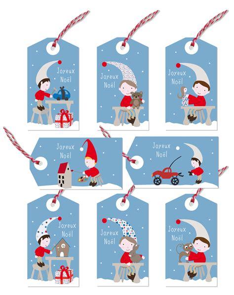 Etiquettes Cadeau Noel by Kit De 8 233 Tiquettes Cadeaux Lutins De No 235 L Exclusives