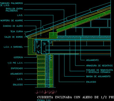 detail flat roof  autocad  cad   kb